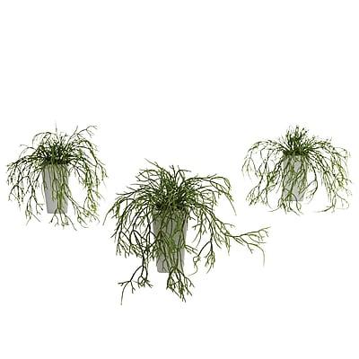 Nearly Natural 4973 Wild Grass Desk Top Plant in Decorative Vase