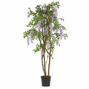 Nearly Natural 5015 5' Wisteria Silk Tree in Pot