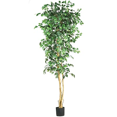 Nearly Natural 5210 7' Ficus Silk Tree in Pot