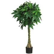 "Nearly Natural 5249 51"" Braided Money Tree in Pot"
