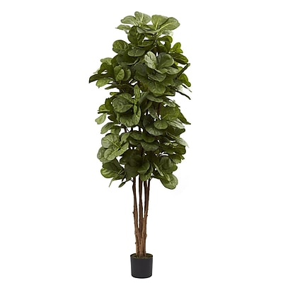 Nearly Natural 5346 6' Fiddle Leaf Fig Tree in Pot