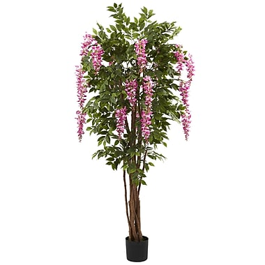 Nearly Natural 5349 Wisteria Silk Tree in Pot