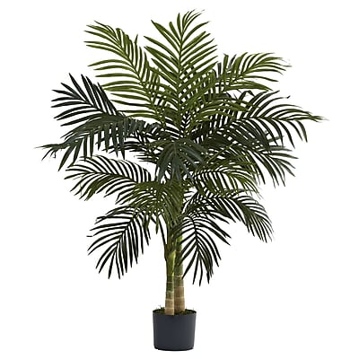 Nearly Natural 5357 4' Golden Cane Palm Tree in Pot