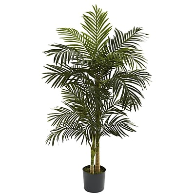 Nearly Natural 5358 5' Golden Cane Palm Tree in Pot