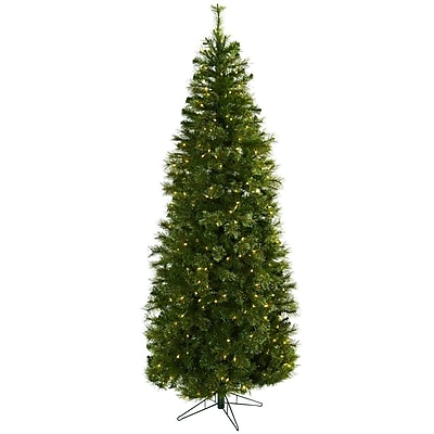 Nearly Natural 5378 Cashmere Slim Christmas Tree with Stand