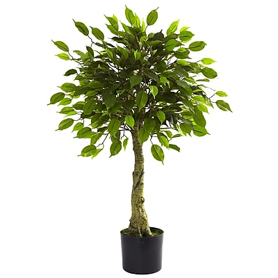 Nearly Natural 5383 3' Ficus Tree in Pot