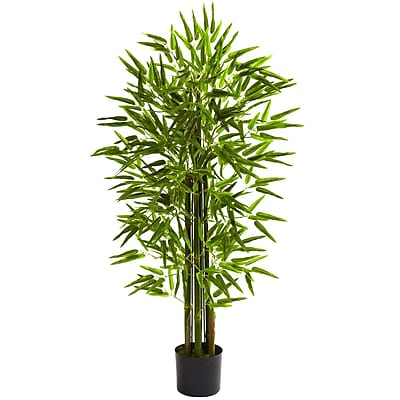 Nearly Natural 5384 4' Bamboo Tree in Pot