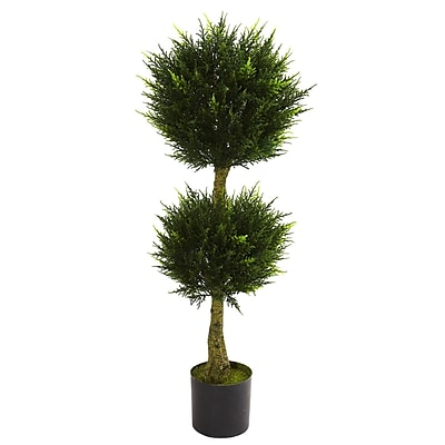 Nearly Natural 5392 Cypress Topiary UV Resistant Plant in Pot