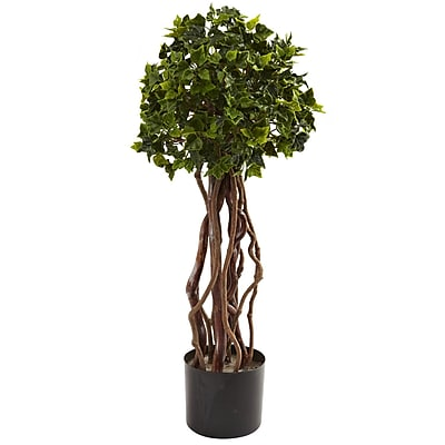 Nearly Natural 5397 English Ivy Topiary UV Resistant Plant in Pot