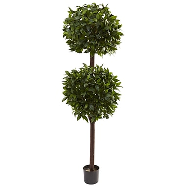 Nearly Natural 5398 6' Sweet Bay Topiary Plant in Pot
