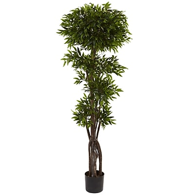 Nearly Natural 5400 5' Ruscus Tree in Pot