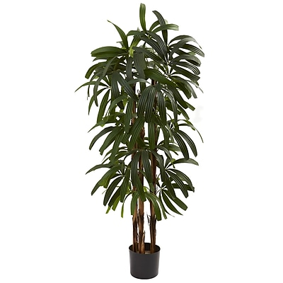 Nearly Natural 5401 4' Raphis Palm Tree in Pot