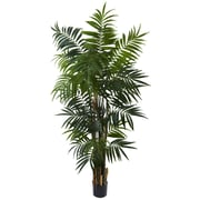 Nearly Natural 5409 6' Bulb Areca Palm Tree in Pot