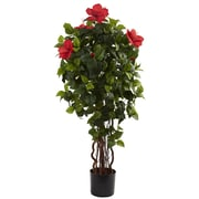 Nearly Natural 5410 4' Hibiscus Tree in Pot