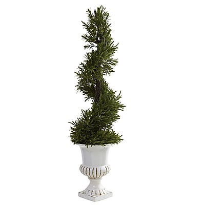 Nearly Natural 5426 3' Rosemary Floor Plant in Decorative Vase