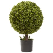 "Nearly Natural 5919 27"" Boxwood Ball Topiary Plant in Pot"
