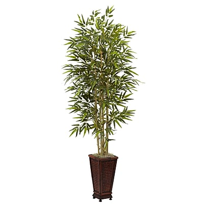 Nearly Natural 5922 6' Bamboo Tree in Planter