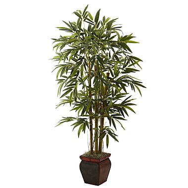 Nearly Natural 5928 Bamboo Tree in Planter