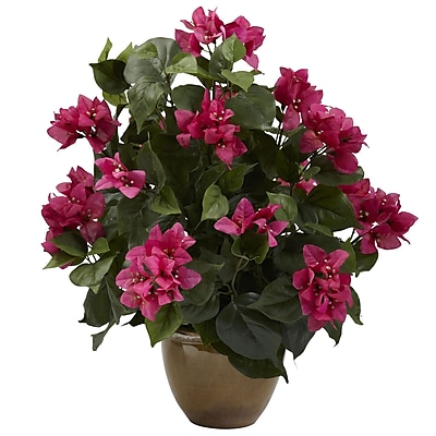 Nearly Natural 6730 Bougainvillea Plant in Pot