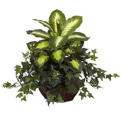 Nearly Natural 6732 Dieffenbachia Plant in Planter