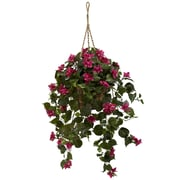 Nearly Natural 6734 Bougainvillea Hanging Plant in Basket