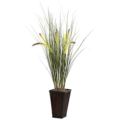 Nearly Natural 6745 Grass Plant in Planter