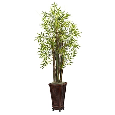 Nearly Natural 6746 Grass Bamboo Floor Plant in Decorative Vase