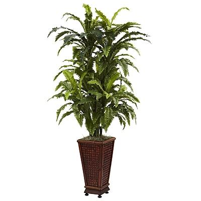 Nearly Natural 6747 Marginatum Floor Plant in Decorative Vase