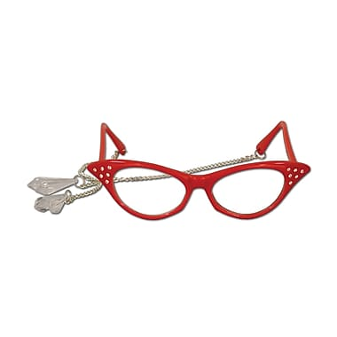 Lunettes gouttes de cristal Fanci-Frames, taille unique, rouge, paquet de 2