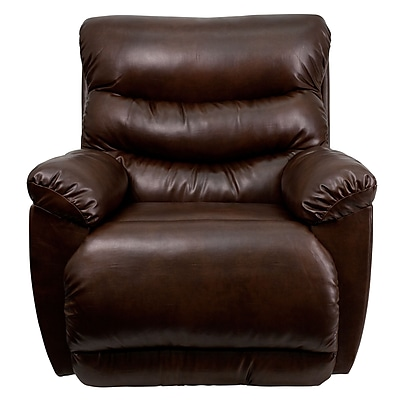 Flash Furniture Contemporary Tonto Bonded Leather Rocker Recliner, Espresso 1180036