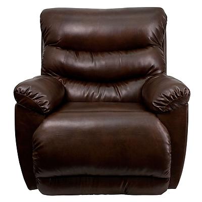 Flash Furniture Contemporary Tonto Bonded Leather Rocker Recliner, Espresso