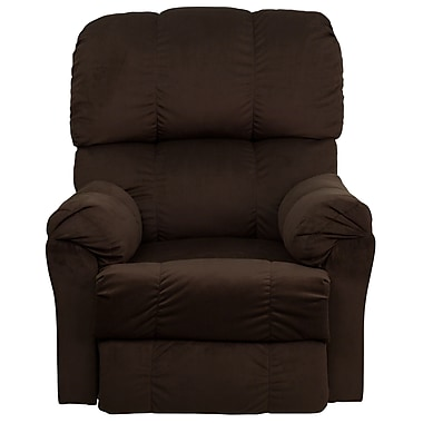 Flash Furniture Contemporary Top Hat Microfiber Rocker Recliner, Chocolate