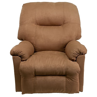 Flash Furniture Contemporary Calcutta Microfiber Power Chaise Recliner, Camel