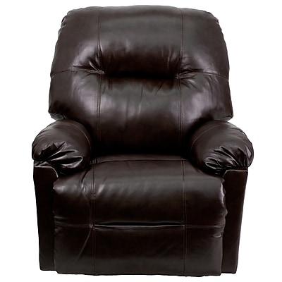 Flash Furniture Contemporary Bentley Leather Chaise Power Recliner, Brown 1179970