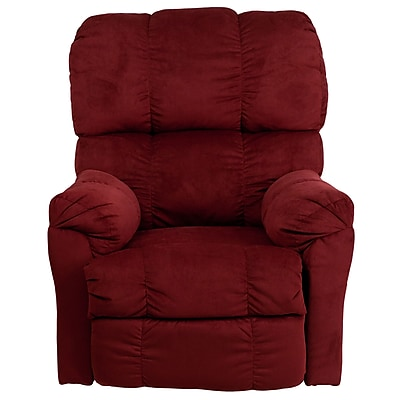 Flash Furniture Contemporary Top Hat Microfiber Power Recliner, Berry