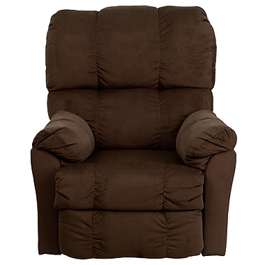 Flash Furniture – Fauteuil inclinable contemporain en microfibre, chocolat