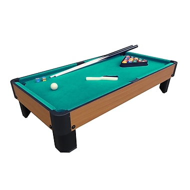 Playcraft Sport Bank Shot 3'4'' Table Top Pool Table; Green