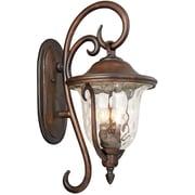 Kalco Santa Barbara 3-Light Outdoor Wall Lantern; Burnished Bronze