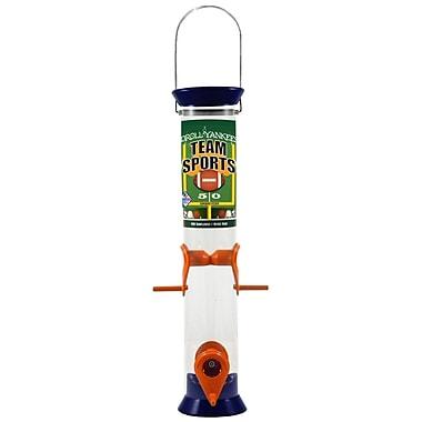 Droll Yankees Team Sports Tube Bird Feeder; Burnt Orange and White