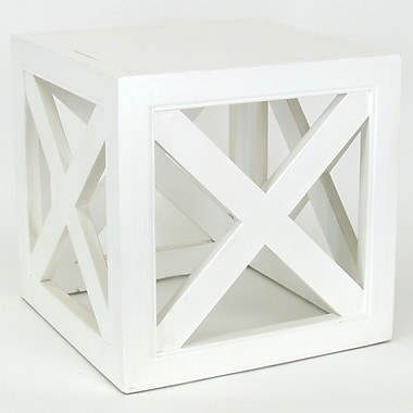 Wayborn Hunter End Table; Whitewash