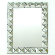 Wayborn 28'' H x 35'' W Beveled 3D Square Mirror