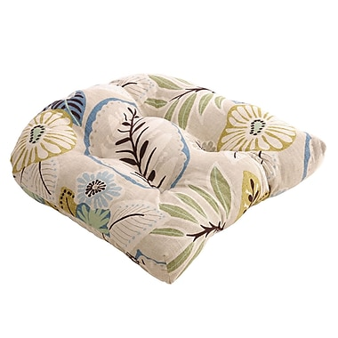 Pillow Perfect Tropical Outdoor Chair Cushion