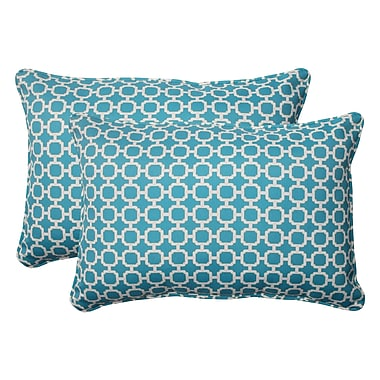 Pillow Perfect Hockley Corded Indoor/Outdoor Lumbar Pillow (Set of 2); 5'' H x 16.5'' W x 24.5'' D