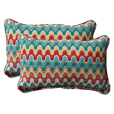 Pillow Perfect Nivala Corded Indoor/Outdoor Throw Pillow (Set of 2); 5'' H x 11.5'' W x 18.5'' D