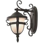 Kalco Tudor 2-Light Outdoor Wall Lantern; Walnut