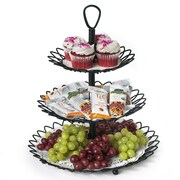 Spectrum Diversified Twist 3 Tiered Stand; Black