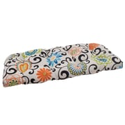 Pillow Perfect Pom Pom Outdoor Loveseat Cushion