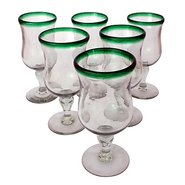 Novica Javier and Efren Caribbean Pina Colada Glass (Set of 6)