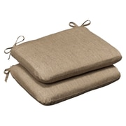 Pillow Perfect Outdoor Sunbrella Rocking Chair Cushion (Set of 2); Tan Textured Solid