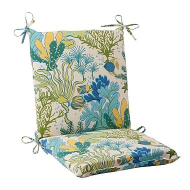 Pillow Perfect Splish Splash Outdoor Chair Cushion; Cream / Green / Blue / Turquoise